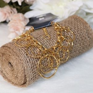 Gold Colored Dangle Bracelet